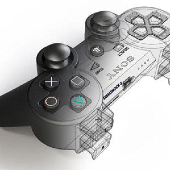 Playstation Controller Render for Technical Illustration